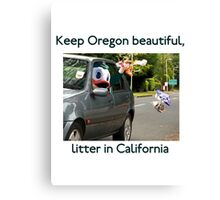 Keep Oregon Beautiful Canvas Print