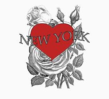 New York Tattoo Style Heart & Rose Unisex T-Shirt