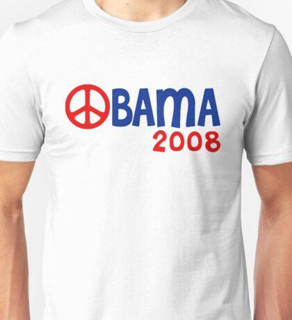 Obama 2008 Peace Sign Unisex T-Shirt