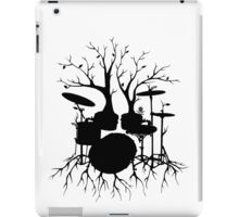 """Live the Beat to the Tempo of Creation"" ~ drum tree art, version2 iPad Case/Skin"