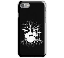 """Live the Beat to the Tempo of Creation"" ~ drum tree art , version1 iPhone Case/Skin"