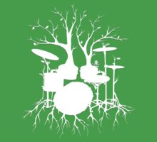 """""""Live the Beat to the Tempo of Creation"""" ~ drum tree art , version1 Kids Clothes"""
