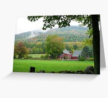 Barn in Mt. Holly, VT Greeting Card