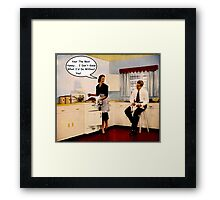Kitchen Talk Framed Print