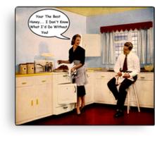 Kitchen Talk Canvas Print