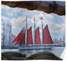 Impasto stylized photo of the Tall Ship American Pride at the Festival of Sail in San Diego, CA US. Poster