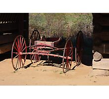 Red Wagon Photographic Print