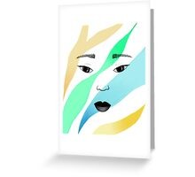 Showcase Face One Greeting Card