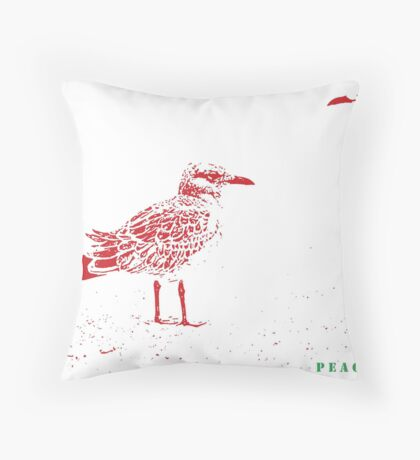"--""Peace to all on Red Bubble""--from Joshua Throw Pillow"