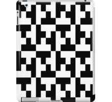 Black And White Tetris Blocks iPad Case/Skin
