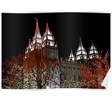 Salt Lake Temple - Christmas  Poster