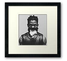 Travi$ Scott Smoke Photo Framed Print