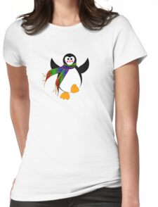Winter Penguin Womens Fitted T-Shirt