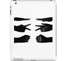 Scissors, paper, rock iPad Case/Skin