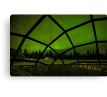 Inside the Glass Igloo Canvas Print