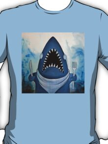 Ready to Eat, hungry great white shark T-Shirt
