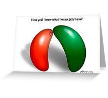 Jelly bean love! Greeting Card