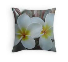 Frangapani Duo Throw Pillow