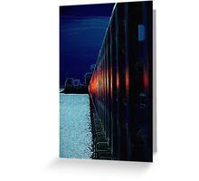 Pier neon railings Greeting Card