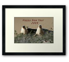 Happy New Year 2009. Framed Print