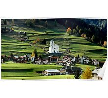 SWISS HILLSIDE ON THE ROAD FROM ITALY TO CHUR, SWITZERLAND Poster