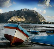 MONDELLO ON THE OCEAN, NEAR PALERMO, SICILY by Edward J. Laquale