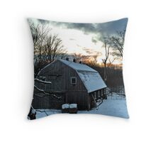 Old Wooden Barn Throw Pillow