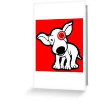 EBT Target Eye Patch Puppy Greeting Card