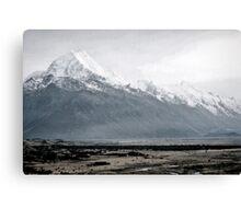 Mount Cook in mist - New Zealand  Canvas Print