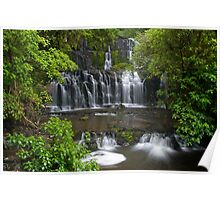 Purakaunui water falls, New Zealand Poster
