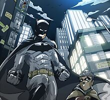 Batman, Robin and Gotham by chrisgooding