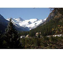 Roseg View, Switzerland Photographic Print