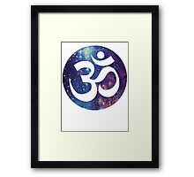 Starry Om  Framed Print