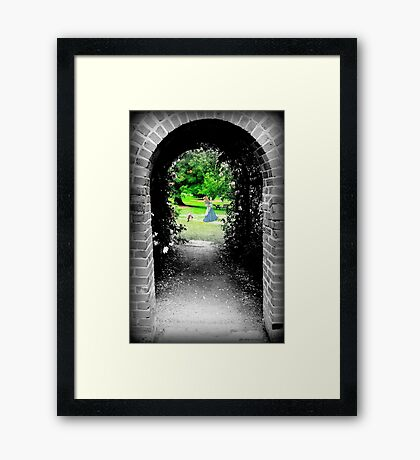 Through to Wonderland Framed Print