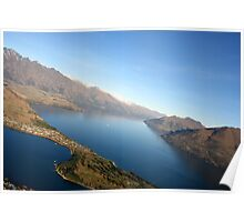 Queenstown from the air - New Zealand Poster