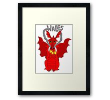 Welsh Dragon with daffodils Framed Print