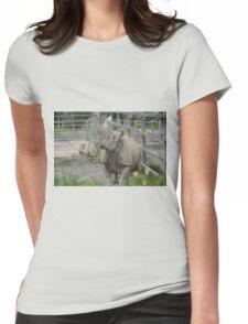 Black Rhinoceros. Womens Fitted T-Shirt