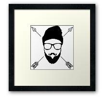 Hipster Emblem Framed Print