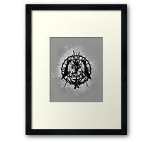 Samael (Black) Framed Print
