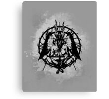 Samael (Black) Canvas Print