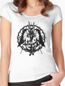 Samael (Black) Women's Fitted Scoop T-Shirt
