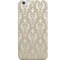 Damask vintage pattern. Gold background iPhone Case/Skin
