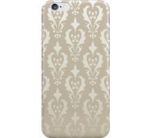 Damask vintage pattern. Gold background iPhone Case/Skin