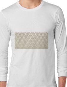 Damask vintage pattern. Gold background Long Sleeve T-Shirt
