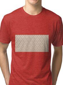 Damask vintage pattern. Gold background Tri-blend T-Shirt