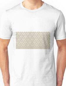 Damask vintage pattern. Gold background Unisex T-Shirt