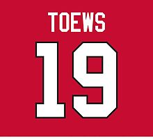 Chicago Blackhawks Jonathan Toews Jersey Back Phone Case by Russ Jericho