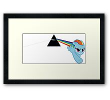 Rainbow Dash Dark Side of the Moon Framed Print