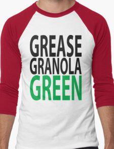 grease granola GREEN! Men's Baseball ¾ T-Shirt