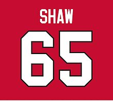 Chicago Blackhawks Andrew Shaw Jersey Back Phone Case by Russ Jericho